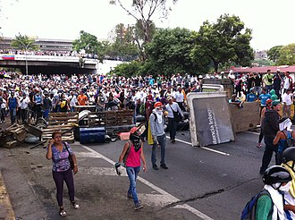 Crisis in Venezuela - Venezuelans protesting during the 2017 Venezuelan protests