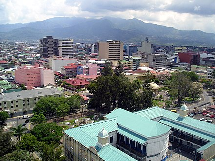 San Jose, the third largest agglomeration in Central America 4- Vue San Jose.jpg