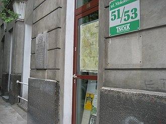Karol Adamiecki - Ulica Mokotowska 51/53, Warsaw, site of Adamiecki's activities in 1927-33.