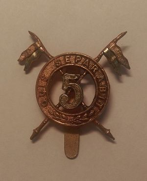 5th Royal Irish Lancers - Badge of the 5th (Royal Irish) Lancers