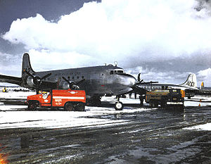 11th Airlift Flight - 11th Troop Carrier Squadron C-54 Skymasters during the Berlin Airlift, 1948