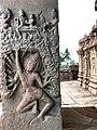 8th century Ravana lifting Kailasha parvat legend in Ramayana at Virupaksha temple, Pattadakal Hindu monuments Karnataka 2.jpg
