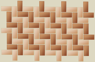 Herringbone pattern zigzagging chevron pattern