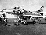 A-4B Skyhawk of VA-113 on USS Bennington (CVS-20) in 1965.jpg