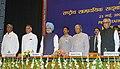 A.P.J. Abdul Kalam, the Vice President, Shri Bhairon Singh Shekhawat, the Prime Minister, Dr. Manmohan Singh, the Union Home Minister, Shri Shivraj V. Patil and the Minister of State for Home Affairs.jpg