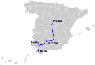 Autovía A-4 - The route of A-4 Highway.