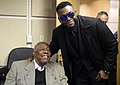 AL Hank Aaron Award winner David Ortiz and Hank Aaron meet before World Series Game 2. (29955120383).jpg