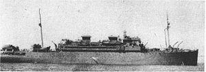 USS Rochambeau (AP-63) - USS Rochambeau (AP-63) at anchor, date and location unknown.
