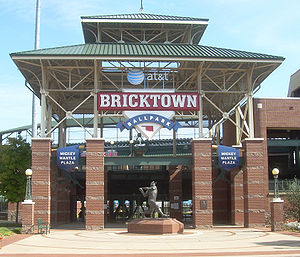 AT&T Bricktown Ballpark in Oklahoma City's Bri...