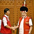 A 15 member delegation from Nagaland GB Federation - a body of Gaon Burahs (village chieftains) of all the Naga villages, calling on the Prime Minister, Shri Narendra Modi, in New Delhi on August 03, 2017.jpg