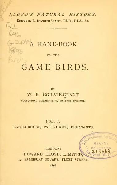 File:A Hand-book to the Game-Birds (Volume 1).djvu
