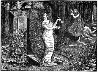George du Maurier - A Legend of Camelot Illustration by du Maurier for Punch magazine, 17 March 1866, parodying Pre-Raphaelitism