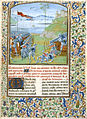 A battle scene - Les Commentaires de Cesar (1473-1476), f.189 - BL Royal MS 16 G VIII.jpg
