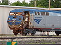 A damaged Amtrak loco at the Beech Grove facility - P1080695.jpg
