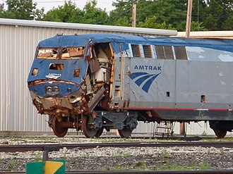 Beech Grove Shops - Image: A damaged Amtrak loco at the Beech Grove facility P1080695