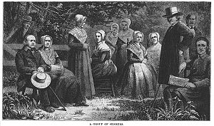 Ann Lee - A group of Shakers, published in 1875