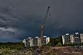 A huge mobile crane building a school in Jordbro.jpg