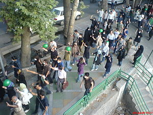 Iran student protests, July 1999 - July 9, 2009 protest march in Tehran.