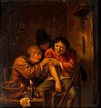 A surgical operation on a man's arm. Oil painting after Adri Wellcome V0017566.jpg