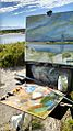 A typical En plein air set-up by James Reynolds (NewEnglandPainter.com).jpg