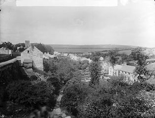 A view of Cilgerran showing T John's house