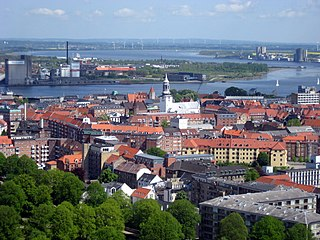 Aalborg City in North Denmark Region, Denmark