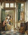 Abraham van Strij - Een kersenverkoopster aan de deur.jpg