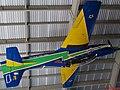 Academia da Força Aérea (AFA) em Pirassununga-SP. O lendário avião T-27 (Tucano) pintado com as últimas cores que voou pelo céu do Brasil e do mundo, pendurado no teto do - panoramio.jpg