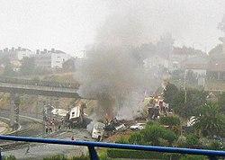 Accidente ferroviario de Angrois cerca de Santiago de Compostela - 24-07-2013.jpg