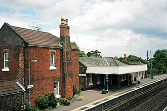 Acle railway station - Acle station from the footbridge