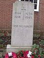 Acocks Green Library, Shirley Road, Acocks Green - Memorial stone to World War One and Two (4328704186).jpg