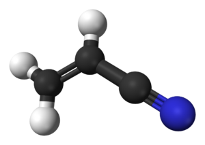 Acrylonitrile - Image: Acrylonitrile 3D balls