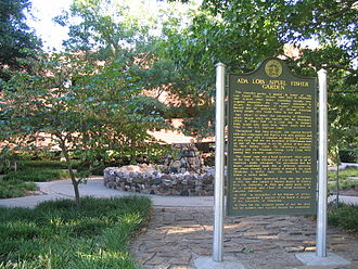University of Oklahoma College of Law - The Ada Lois Sipuel Fisher Garden located on the north part of the main campus in honor of the first African-American to be admitted to the College of Law in 1948.