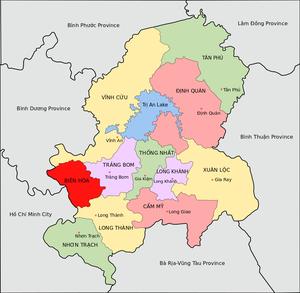 Đồng Nai Province - Image: Administrative Divisions of Dong Nai Province