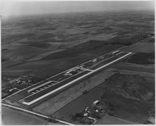Aerial view of North Omaha Airport - NARA - 283712.tif