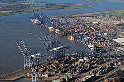 Aerial view of the Port of Felixstowe.jpg