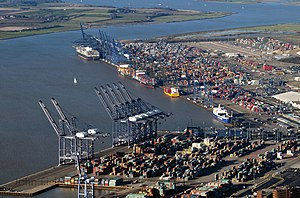 Port of Felixstowe - Image: Aerial view of the Port of Felixstowe