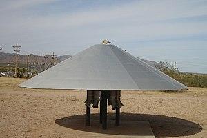 "Aeroshell - USAF Aeroshell ""Flying Saucer"" on public display in Missile Park at White Sands Missile Range."