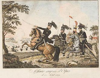 Battle of Ölper (1809) - Duke Frederick-William and his staff at the Battle of Ölper.