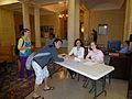 African Americans in North Carolina Edit-a-thon at UNC, registration table, posed.jpg