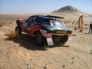Africa Eco Race - A Buggy, in Tijirit, Mauritania during the 2009 Africa Race.