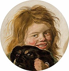 Head of a Boy with a Dog