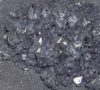 Silver chloride - Pyramidal crystals of AgCl