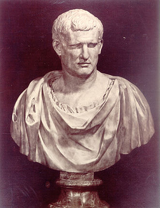 Marcus Claudius Marcellus (Julio-Claudian dynasty) - Bust of Agrippa, photo from the late 19th to early 20th century, Florence.