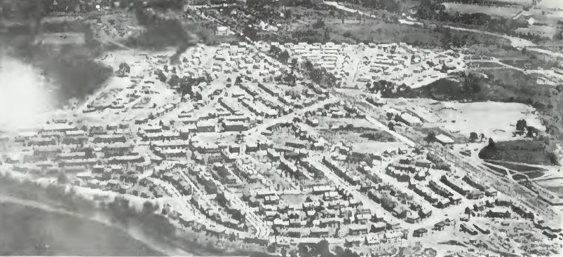 Air view, Yorkship Village ca 1920