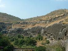 The Ajanta Caves; 29 rock-cut cave temples