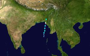 Cyclone Akash - Image: Akash 2007 track
