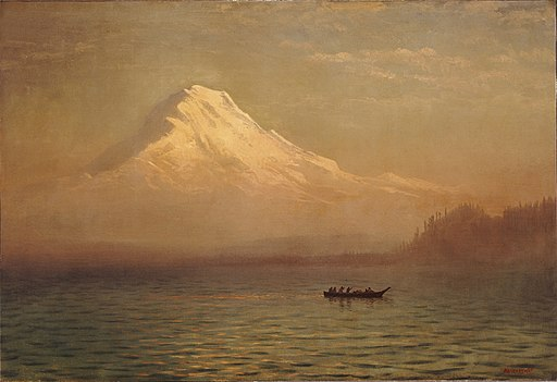 Albert Bierstadt - Sunrise on Mount Tacoma