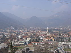 A view over the town of Albino