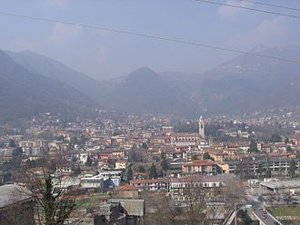 Albino, Lombardy - A view over the town of Albino